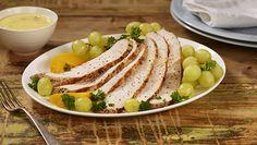 Fersk Kalkunfilèt med eplesaus og frukt