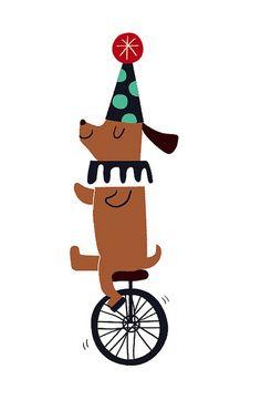 circus dog by joanneliuyunn