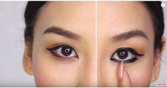eyeliner split image before and after