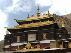 The Tashilhunpo Monastery situated near Shigatse the old ancient capital of Tibet