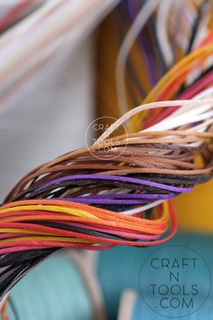 Best quality thread for leather work. Ritza 25 and Sajou. The colors are really stunning! #craftntools #leatherwork #leatherart #leathertools #leathercraft #handmade #leatherworking