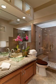 Delray Beach Oceanfront Condominium Renovation - tropical - powder room - miami - Sloan & Sloan- Architecture+Interior Design