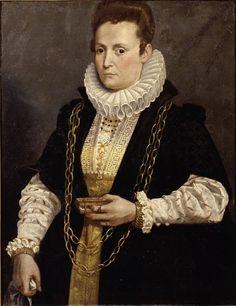 Giovan Paolo Cavagna, Ritratto di dama con libro, oil on canvas, 1600ca. - Accademia Carrara di Bergamo