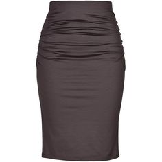 PAULE KA Stretch Cotton High-Waisted Pencil Skirt ($225) ❤ liked on Polyvore featuring skirts, bottoms, saias, gonne, panel skirt, purple high waisted skirt, paule ka, high waist knee length pencil skirt and high waisted skirts