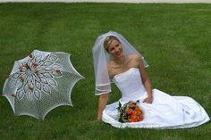 Haak bruiloft paraplu