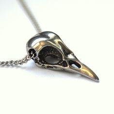 Silver-bird-skull-necklace-sterling