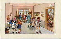 The pre ABC book. Prague Illustrated by Antonín Pospíšil. Prague, Childhood Memories, Montessori, Alphabet, Retro, Children, Illustration, Painting, Art