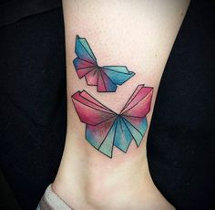 Origami bows by Wildcat Ink