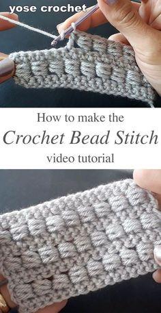Learn making the crochet bead stitch crochetbeja crochet stitches tecniques knitting crochet stitches lace pineapple stitch free crochet pattern Learn To Crochet, Diy Crochet, Crochet Crafts, Crochet Baby, Bead Crochet, Crochet Ideas, Crochet Rope, Double Crochet, Diy Crafts