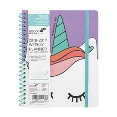 Academic Planner x Purple Unicorn - Yoobi, Multi-Colored Too Cool For School, Back To School, School Stuff, Unicorn Room Decor, Creative Bookmarks, Cool School Supplies, Anime School Girl, Academic Planner, School Accessories