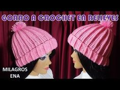 Gorro a crochet en puntos RELIEVES paso a paso FÁCIL DE TEJER PARA TODAS LAS TALLAS - YouTube Crochet Hat Tutorial, Easy Crochet Hat, Crochet Cap, Crochet Beanie, Learn To Crochet, Knitted Hats, Crochet Afghans, Crochet Stitches, Poncho