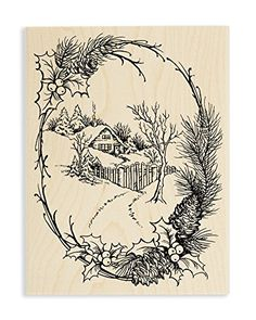 Stampendous Wood Stamp, Christmas Cottage ** More info could be found at the image url.