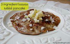 3 ingredient banana tahini pancake- Super simple, tasty and filling!