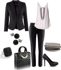 """""""Business Woman"""" by leslieloezagamel ❤ liked on Polyvore"""