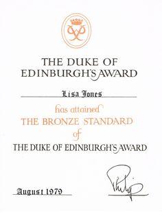 Achieving the first level of The Duke of Edinburgh's Award