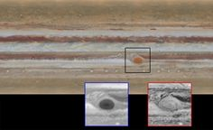 Hubble capta mudanças na grande mancha vermelha de Júpiter