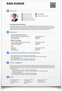 Create Cover Letter Free Resume Template For Word And Pages  Modern & Professional Resume .