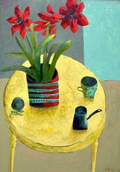 Amaryllis imagen 42x59cm Impresión roja.  Firmado, edición limitada de 50 unidades.  Otros tamaños a pedido del cliente a este@estemacleod.com