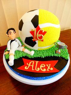 Football/Tennis Ball Theme Cake xMCx
