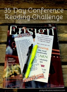 35 Day Conference Reading Challenge for April 2018 - Pink Polka Dot Creations