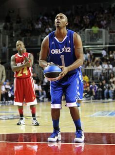 Penny Hardaway with Shooting Stars Foamposite... I had the Penny Foams in high school!