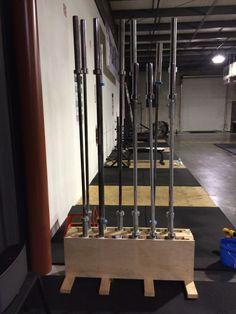 12 Bar Vertical Barbell Storage Rack Wall Mounted