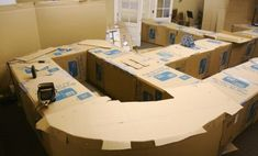 cardboard box maze for a very large basement/open space
