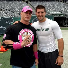 John Cena meets Tim Tebow my favorite stud on the right and some creepy dude on the left John Cena, Kinesiology Taping, Tim Tebow, Wwe Champions, Wrestling, Wwe Superstars, Wwe News, Celebrity Crush, Celebrity Stars