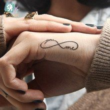 New sex products Design Fashion Temporary Tattoo Stickers Temporary Body Art Waterproof Tattoo Pattern Couple Tattoos, Tattoos For Guys, Tattoos For Women, Small Tattoos For Couples, Spouse Tattoos, Eternity Tattoo, Initial Tattoo, Tattoo Designs, Anklet Tattoos