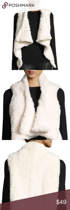"""🆕 So Soft Furry Vest 🍃Soft, plush, versatile-are a few words to describe this adorable vest from Bagatelle. Classic shawl collar, asymmetrical hem; wear it open or with a belt, over a T-shirt, dress, blouse, to work or drinks with the girls. Classic, must have transition piece. Sold out everywhere!🍃  ▪️Pit to Pit:  ▪️18"""" shortest length 29"""" longest length Bagatelle Jackets & Coats Vests"""