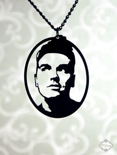 Morrissey homage silhouette necklace musician by FableAndFury, $32.00 @Pam Rothman