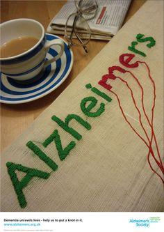 Public awareness poster - Alzheimer's Society by Ed Clarke, via Behance