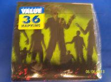 RARE Beware Zombie Apocalypse Halloween Carnival Party Paper Beverage Napkins