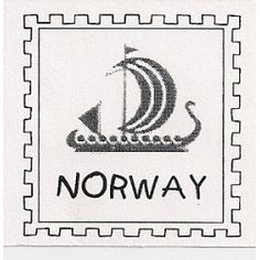 Teacher Norway Post Rubber Stamp