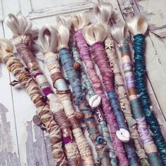10 Pastel Embellished Wrap Dreads by MiloAndMinnie on Etsy