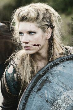 Lagertha's battle hair