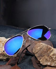 57bf3fd9b1 Badass Blue  Aviators Mirrored Sunglasses Blue Aviator Sunglasses