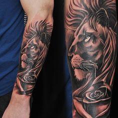 Popular Tattoos and Their Meanings Tattos Maori, Forarm Tattoos, Leo Tattoos, Future Tattoos, Animal Tattoos, Body Art Tattoos, Lion Tattoo Sleeves, Mens Lion Tattoo, Tiger Tattoo