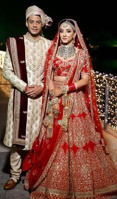 Sabyasachi Bride Indian Bridal Outfits, Indian Bridal Lehenga, Indian Bridal Fashion, Indian Bridal Wear, Bridal Dresses, Red Lehenga, Indian Wear, Wedding Lehnga, Wedding Sherwani