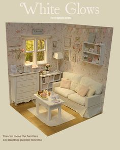 DIORAMA WHITE GLOWS ♥Ooak by Nerea Pozo♥   eBay