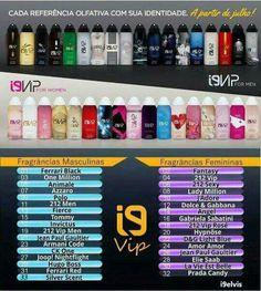 Perfumes i9vip são os primeiros em aerossol, não tem CFC, vem em 100ml, 25% de essência e duração de mais de 10 horas na pele!!