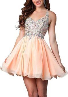 Lovelybride Colorful Rhinestones Straps Short Homecoming Dress Party Gowns at… Semi Dresses, Grad Dresses Short, Best Prom Dresses, Dance Dresses, Pretty Dresses, Homecoming Dresses, Beautiful Dresses, Formal Dresses, Fashion Vestidos