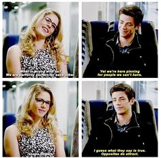 The Flash - Felicity and Barry <3
