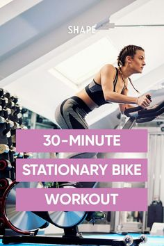 When you can't make it to a studio's spin class workout try this at-home DIY cycling routine that takes just 30 minutes. #athomeworkouts #stationarybike Spin Bike Workouts, Fast Workouts, Outdoor Workouts, At Home Workouts, Body Workouts, Cycling Workout, Cycling Tips, Road Cycling, Swimming Tips