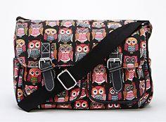 Multi Owl Print Satchel For £18.99! SO CUTE. BLACK! SO LOVELY…BUY TODAY!