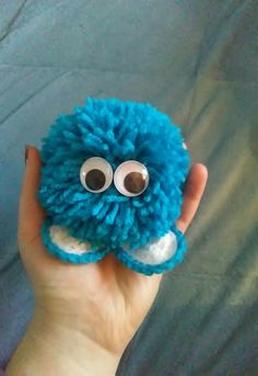 A cute pompom monster ♡homemade♡