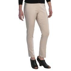 Amanda + Chelsea Ankle Pants - Low Rise, Narrow Leg (For Women) in Stone