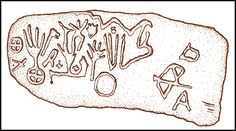 This stone tablet was found by archaeologist Robert Wauchope, near the man-made cave that was purportedly Eleanor Grave's tomb. Without controversy, it has been determined to be authentic.
