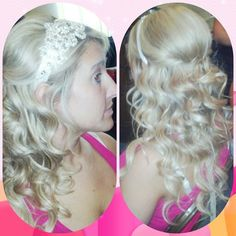 Half sweep bridal hair by Lucy Lopez at Solstice Salon in Cleveland Ohio.