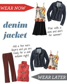 Wear it Now, Wear it Later - Denim Jacket http://www.myjockeyp2p.com/wprice